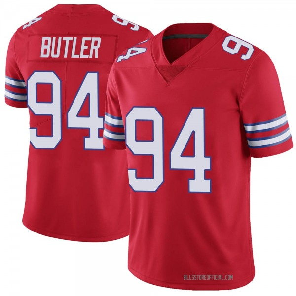 Youth Vernon Butler Buffalo Bills Limited Red Color Rush Vapor Untouchable Jersey